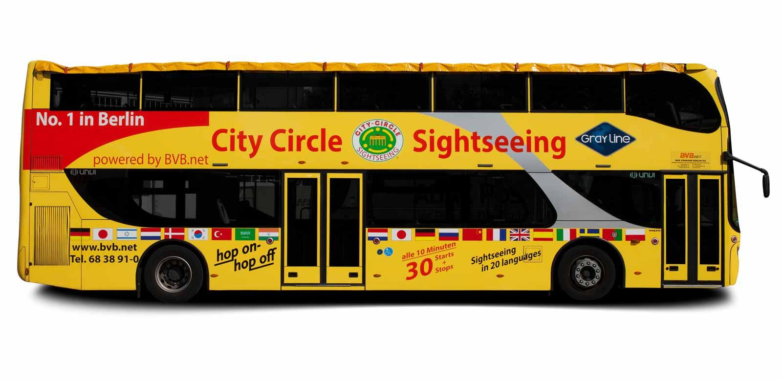 sightseeing bus mieten